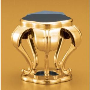梅型仏器台 仏具 木製 純金 背高 2.0寸|kumano-butu