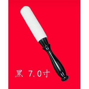 りん棒 白皮金撥 黒 7.0寸|kumano-butu