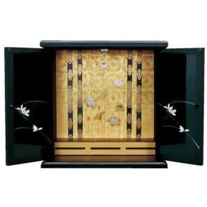 仏壇 国産 漆調 小型仏壇 上置仏壇 ミニ仏壇 みかわ 大(漆調)|kumano-butu