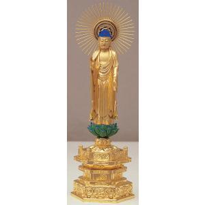 仏像 真宗東ご本尊 純金肌粉  4.5寸|kumano-butu