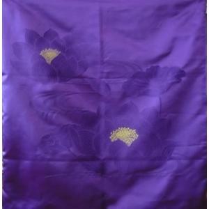 座布団カバー 導師用 高級座布団カバー 仏具 蓮 日本製 甲州織物 ジャガード織り|kumano-butu