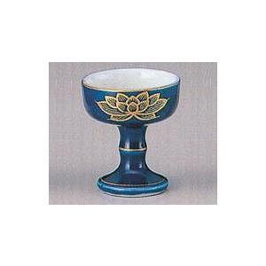 仏器 陶器 瑠璃上金蓮 小|kumano-butu