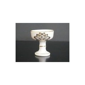 仏器 陶器製 白 上金蓮 大|kumano-butu