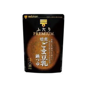 ミツカン ふたりPREMIUM 焙煎ごま豆乳鍋つゆ 500g×12 (12×1箱) ミツカン 市販用