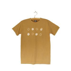 番茶染め【半袖】Tシャツ(御浜小石絞り/銅焙煎)|kumano-t
