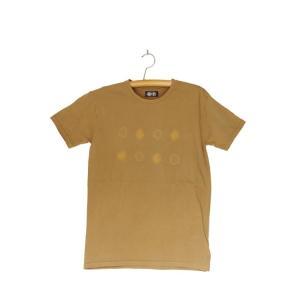 番茶染め【半袖】Tシャツ(御浜小石絞り/銅×鉄媒染)|kumano-t