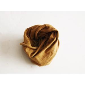 番茶染めスヌード(無地/銅媒染)|kumano-t