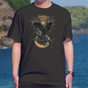 世界遺産熊野古道 スカジャン風八咫烏(やたがらす)Tシャツ 半袖|kumano-t