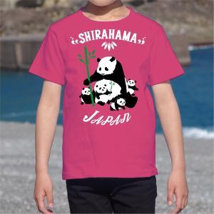 南紀白浜 ファミリーパンダTシャツ 半袖|kumano-t