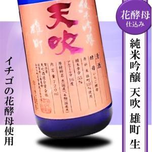 日本酒 辛口 冷酒 天吹 純米吟醸 生酒 いちご酵母 720ml 花酵母|kumanonamida