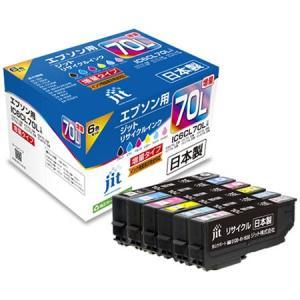 ((メール便))((文具館))ジット リサイクルインク  エプソン用 JIT-AE70L6P|kumazou2