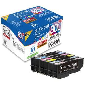 ((メール便))((文具館))ジット リサイクルインク  エプソン用 JIT-AE80L6P|kumazou2