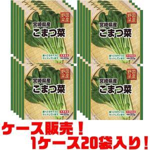 フーデム 国産野菜宮崎県産小松菜200g ×20入り|kumazou2