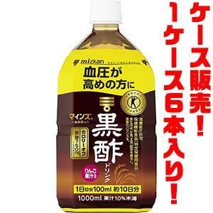ミツカン マインズ<毎飲酢> 黒酢ドリンク 1000ml(PET) ×6入り|kumazou2
