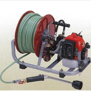 小型エンジン動噴 HEP−90RHM ホース20M・ホース巻付|kumazou2