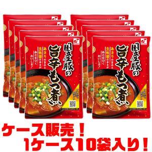 関越物産 国産豚の旨辛もつ煮 ×10袋入り|kumazou2