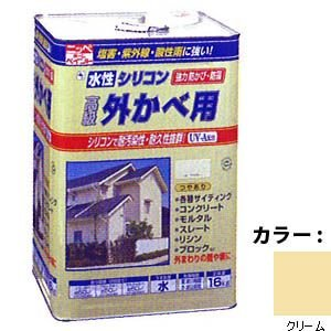 ニッペ 水性シリコン外かべ用16kg 04クリーム  kumazou2