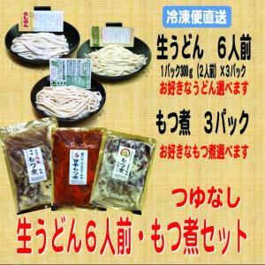 生うどん6人前・つゆなし・もつ煮3パック|kumezo-udon
