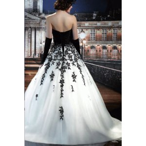 cdfd33a52eb86 ... Pk2067 人気ランキング パーティードレス白と黒のウエディングドレス衣装としても人気|
