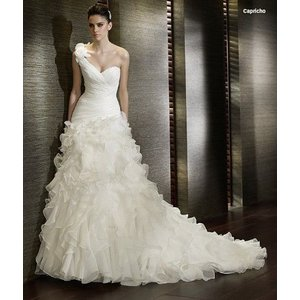 8ac9ce9743745 wdk013A人気のウェディングドレスを無料サイズオーダー! ホワイトブライダルドレスワンショルダー