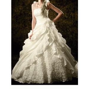 e7917f6e68612 wdk845 人気ランキング上位豪華なウエディングドレス プリンセスライン肩紐取り外し可能