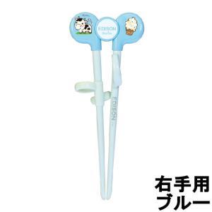 EDISONmama すぐに使えるお箸 エジソンのお箸1 右手 ブルー [ エジソンママ ]- 定形外送料無料 - kumokumo-square