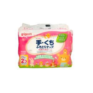 ピジョン 手・くちふきとりナップ 詰めかえ用 70枚入り×2個パック - 送料無料 - 北海道・沖縄を除く|kumokumo-square