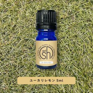 アロマ 100%ピュア &SH アロマ エッセンシャルオイル ( 精油 ) ユーカリレモン 5ml アロマオイル - 定形外送料無料 -|kumokumo-square