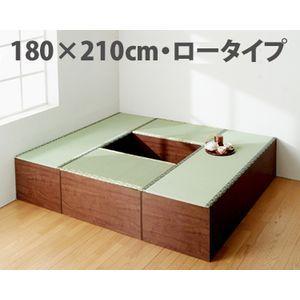 畳ユニットボックス ロータイプBセット 1800x2100 ユニット畳 置き畳 収納畳 畳収納ボックス|kunidenbousai