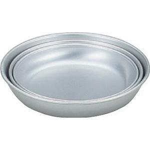 アルミ皿 17cm アカオ 日本製   【即納】 アカオアルミ  AKAO 《 アルミ食器 キャンプ・バーベキュー用 給食用 17センチ》|kunikichisyouten