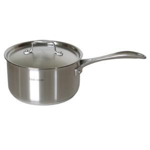 Cookvessel(クックベッセル) スタッフ ソースパン18cm IH対応 容量目盛り付き 【ステンレス製 片手鍋】 kunikichisyouten