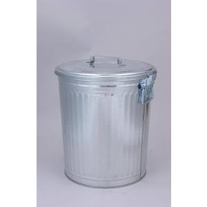 昔ながらの トタンダストペール 45型(蓋付き) 三和金属 【 ばけつ 大型ペール缶 脱衣かご 洗濯物 ごみ箱 ゴミ箱 】*同梱不可の場合別途運賃*|kunikichisyouten