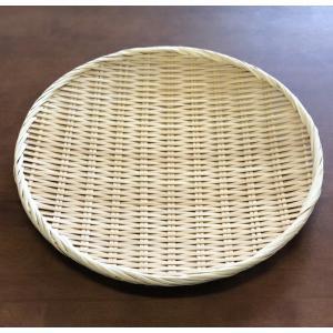 【9月末入荷予定】お蕎麦や鍋に 竹製 盆ざる 36cm 【竹ざる 盆ザル】|kunikichisyouten