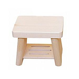 日本製 木製 親子風呂イス 小     【風呂椅子 ふろいす フロイス 桧 ひのき 子供用】|kunikichisyouten