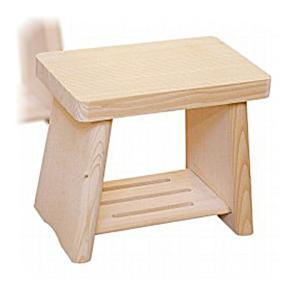 日本製 木製 親子風呂イス 中     【風呂椅子 ふろいす フロイス 天然木 桧 ひのき】|kunikichisyouten