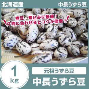 中長うずら豆 1kg 29年産 北海道産 国産 豆