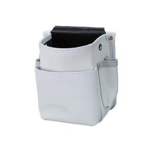 【コヅチ】 電工腰袋シリーズ 電工用腰袋2段白 KS-801|kunimotohamono