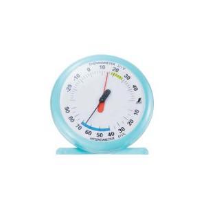 【シンワ測定】 温湿度計 Qー1 15cmライトブルー 70494|kunimotohamono