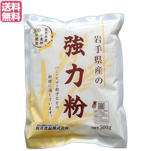 強力粉 国産 送料無料 岩手県産の強力粉 (ゆきちから)500g|kunistyle