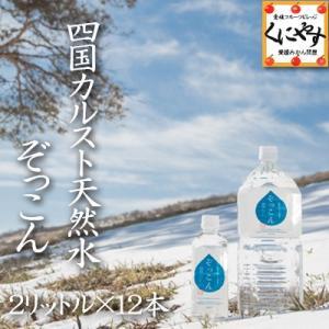 【送料無料】四国カルスト天然水ぞっこん2リットル×12本<br>中硬水,弱アルカリイオン水,非加熱湧水,愛媛のすごい水,純度100%スーパー天然水