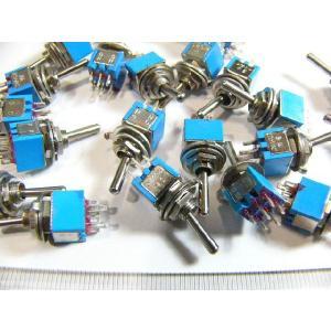 トグルスイッチ Sサイズ AC 3A 125V 6P(中点なし) 20個入り|kura-parts