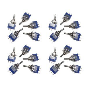 トグルスイッチ Mサイズ AC 6A 125V 3P(中点なし) 20個入り|kura-parts