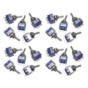 トグルスイッチ Mサイズ AC 6A 125V 6P(中点なし) 20個入り|kura-parts
