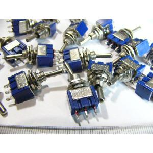 トグルスイッチ Mサイズ AC 6A 125V 3P(中点あり) 20個入り|kura-parts