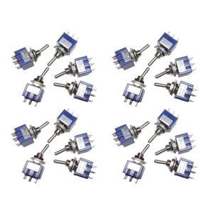 トグルスイッチ Mサイズ AC 6A 125V 6P(中点あり) 20個入り|kura-parts