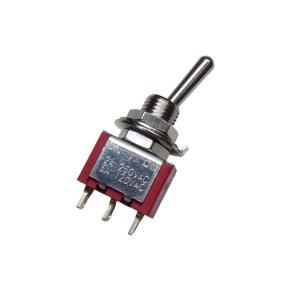 トグルスイッチ Mサイズ 自動復帰タイプ AC 6A 125V 3P(中点なし)|kura-parts