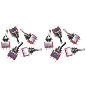 トグルスイッチ Mサイズ 自動復帰タイプ AC 6A 125V 3P(中点なし) 10個入り|kura-parts