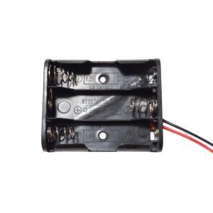 電池ボックス 単3 3本 リード線付き 10個入り|kura-parts