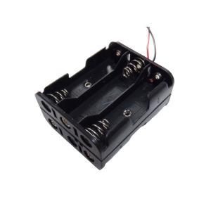 電池ボックス 単3 6本 リード線付き 10個入り|kura-parts