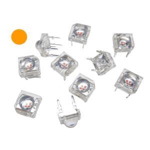 高輝度 SUPER FLUX 5mm LED 4000mcd(12lm) オレンジ 100個入り|kura-parts